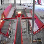 Dubbele Spirofloor® ontvangstbunker met een lengte van 28 meter elk