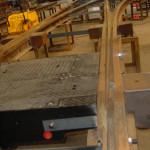 Een tramwissel in aanbouw